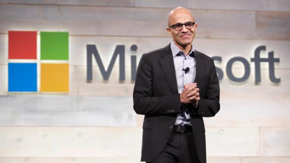 BELLEVUE, WA - DECEMBER 3: Microsoft CEO Satya Nadella addresses shareholders during Microsoft Shareholders Meeting December 3, 2014 in Bellevue, Washington. The meeting was the first for Nadella as CEO. (Photo by Stephen Brashear/Getty Images)