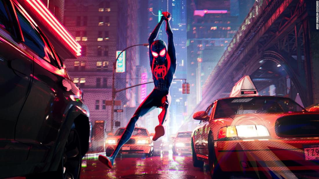 'Spider-Verse' swings into theaters
