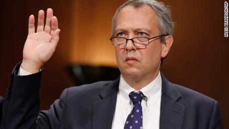 Thomas Farr is sworn in 2017 during a Senate Judiciary Committee hearing on his nomination to be a District Judge on the United States District Court for the Eastern District of North Carolina, on Capitol Hill in Washington. (AP Photo/Alex Brandon, File)