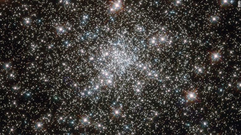 This image of a globular cluster of stars by the Hubble Space Telescope is one of the most ancient collections of stars known. The cluster, called NGC 6752, is more than 10 billion years old.