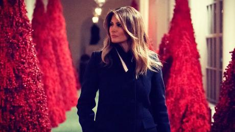 Red Christmas.Melania S Red Christmas Trees Creepy Or Cool