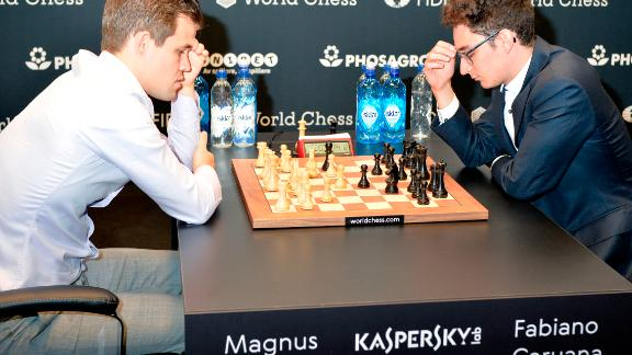 """""""Magnus played very well so all credit to him,"""" said Caruana"""