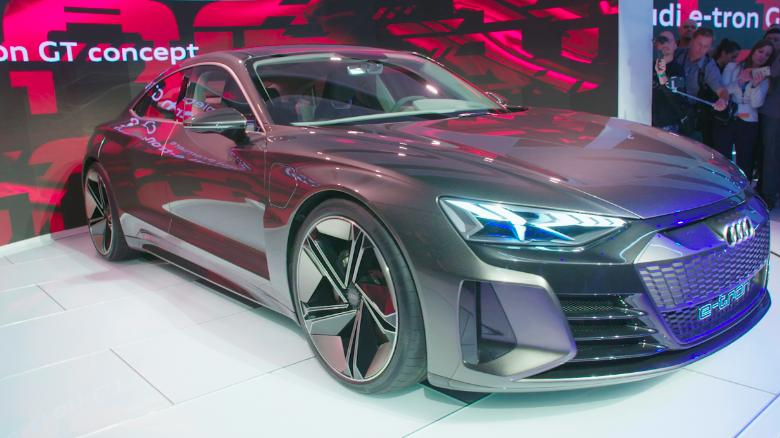 Audi Reveals The E Tron Gt Its New All Electric Sports Car Cnn