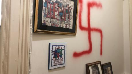 Office walls Partition Professor Elizabeth Midlarsky Told Cnn quoti Opened The Outer Door And Almost Major Painting Columbia Teachers College Professor Finds Swastikas Spraypainted