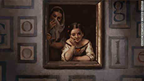 Google Doodle on Thursday, November 29, 2018 of Two Women at a Window by Bartolomé Esteban Murillo.