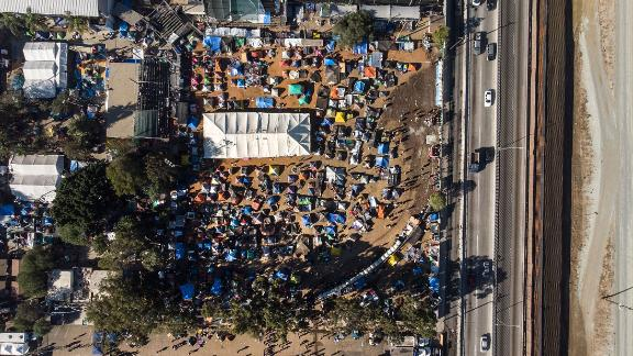 An aerial view of the shelter, as seen on Tuesday, November 27.