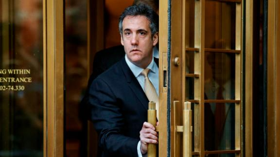 Michael Cohen, President Donald Trump's personal lawyer and longtime fixer, lea
