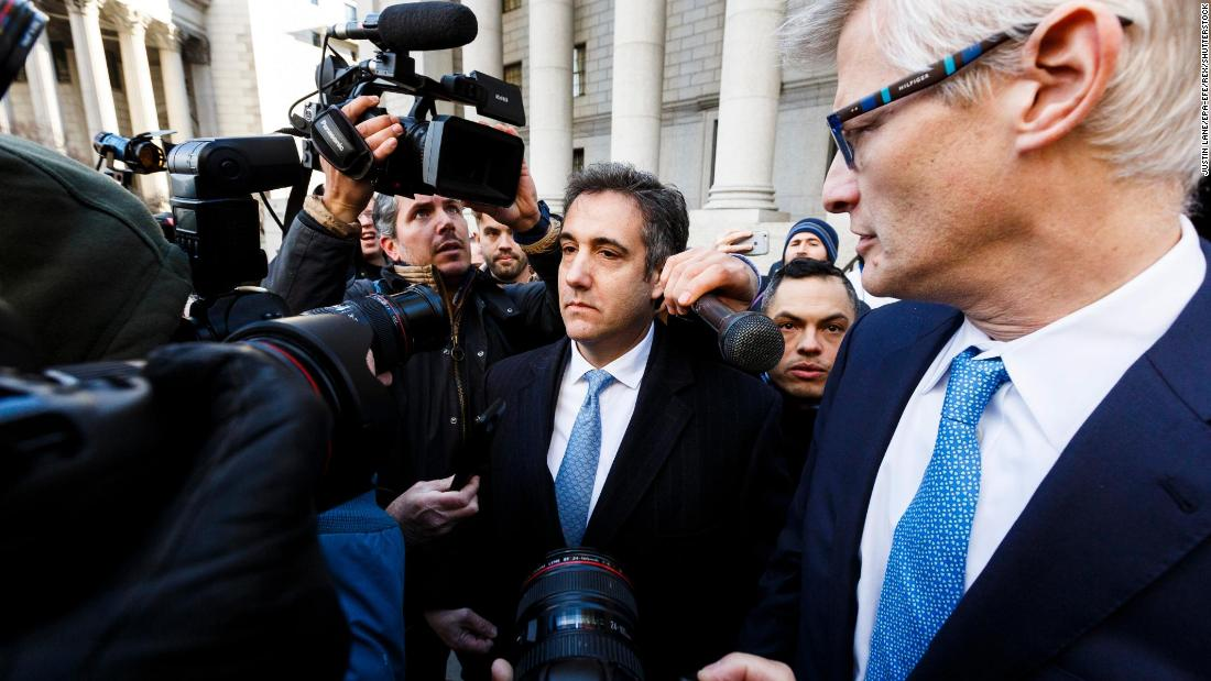 "Michael Cohen, the former personal attorney of US President Donald Trump, leaves federal court on Thursday, November 29, after <a href=""https://www.cnn.com/2018/11/29/politics/michael-cohen-guilty-plea-misleading-congress/index.html"" target=""_blank"">pleading guilty to making false statements to Congress</a> about the Russia investigation."