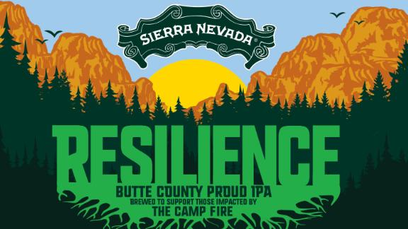Sierra Nevada's design for the new Resilience Butte County Proud IPA. All proceeds will be donated to Camp Fire relief funds.