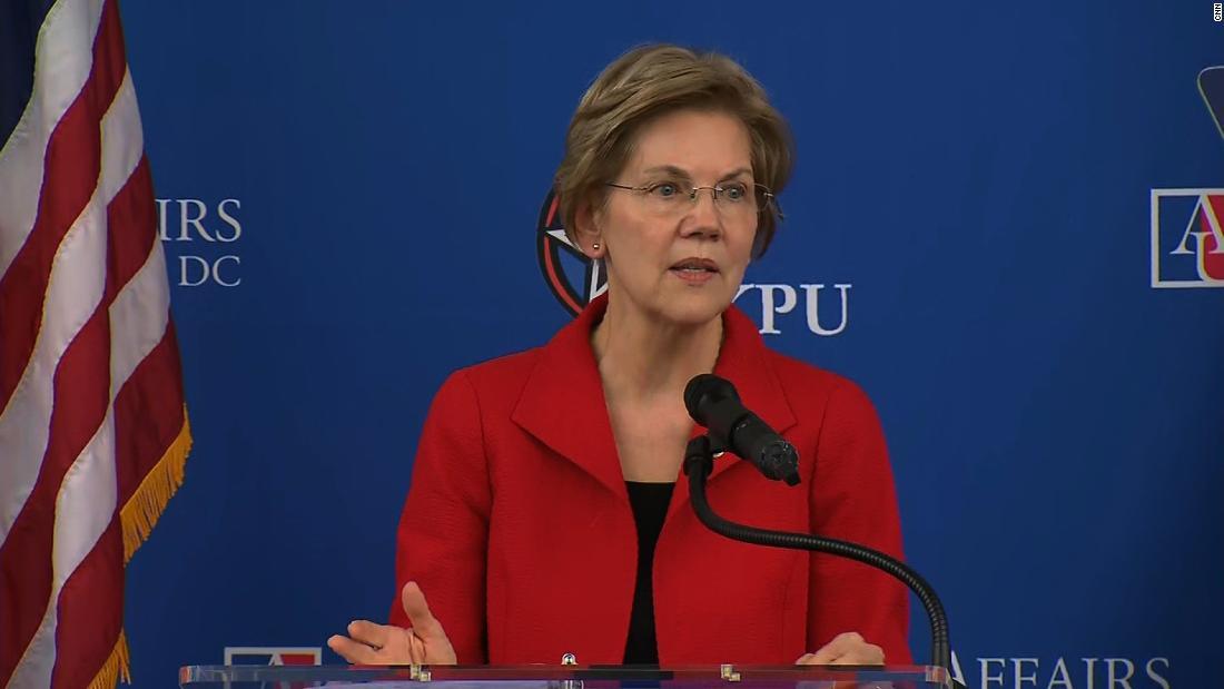 Elizabeth Warren takes on race issue in commencement speech