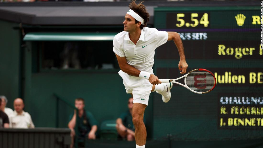 Benneteau beat Roger Federer, Rafael Nadal and Novak Djokovic in his career. The Frenchman also led Federer by two sets at Wimbledon in 2012 before the Swiss rallied.