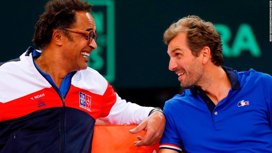 Benneteau played the last match of his career in October but he is staying in tennis. He is now France's Fed Cup captain, replacing Yannick Noah (left).