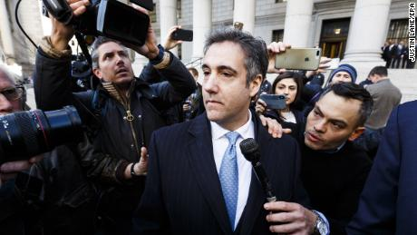 Michael Cohen, US President Donald Trump's former personal lawyer, leaves federal court after pleading guilty to charges related to lying to congress in New York, New York, USA, on 29 November 2018.