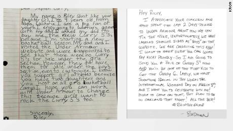 60f988d22c48 A 9-year-old girl from Napa wrote a letter to Steph Curry expressing