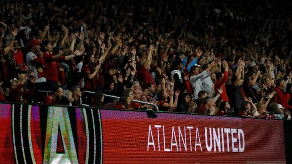 A crowd of 70,016 saw Atlanta United defeat the New York Red Bulls 3-0 in leg 1 of the Eastern Conference final at Mercedes-Benz Stadium on Sunday.