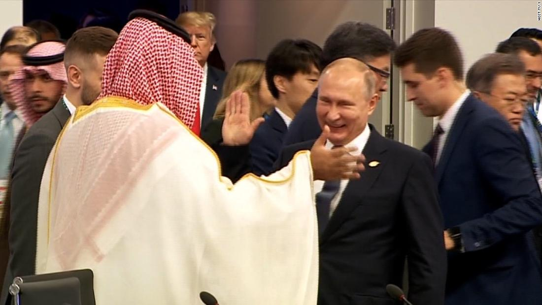Image result for putin high fiving with MBS