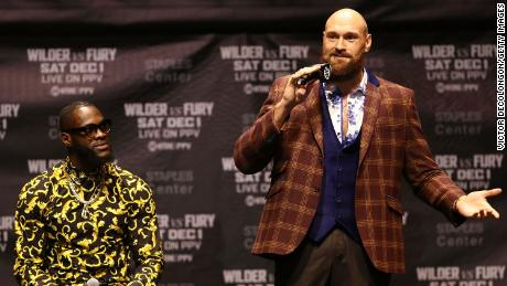 Wilder and Fury met in a news conference in LA Wednesday.