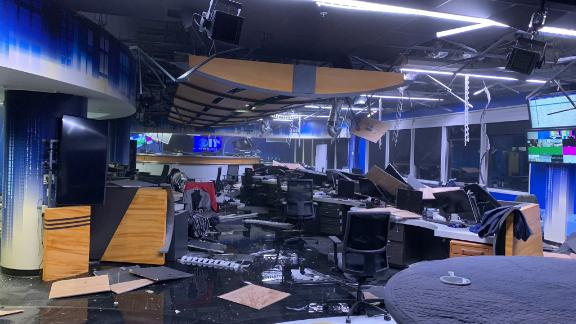 KTVA's newsroom felt the blow of the earthquake this morning, in Anchorage, Alaska.
