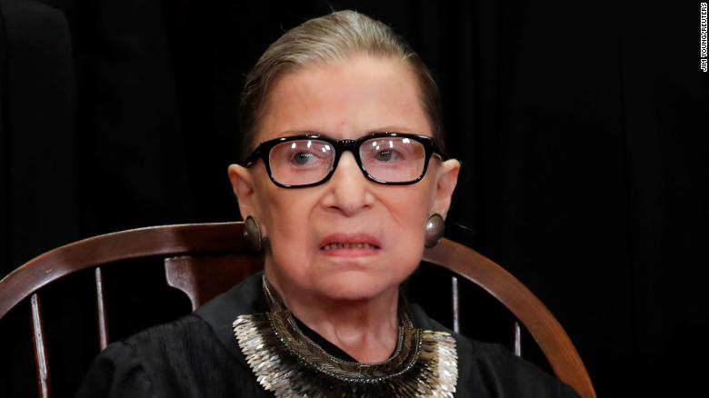 U.S. Supreme Court Associate Justice Ruth Bader Ginsburg is seen during a group portrait session for the new full court at the Supreme Court in Washington, U.S., November 30, 2018. REUTERS/Jim Young