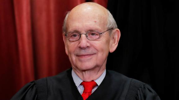 U.S. Supreme Court Associate Justice Stephen Breyer is seen during a group portrait session for the new full court at the Supreme Court in Washington, U.S., November 30, 2018. REUTERS/Jim Young