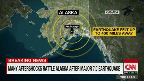 40+ aftershocks rattle Alaska after major 7 0 earthquake
