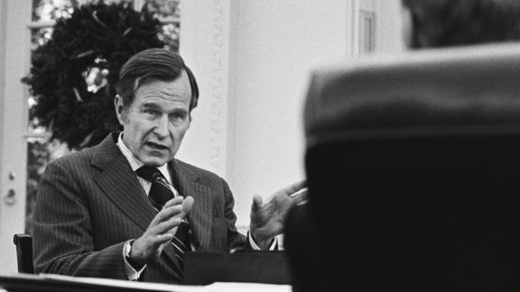Ford meets with Bush in December 1975 to talk to about Bush taking over as director of Central Intelligence.
