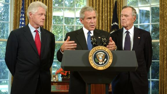 In 2005, President George W. Bush appointed his father and Bill Clinton to lead fundraising efforts for victims of Hurricane Katrina.