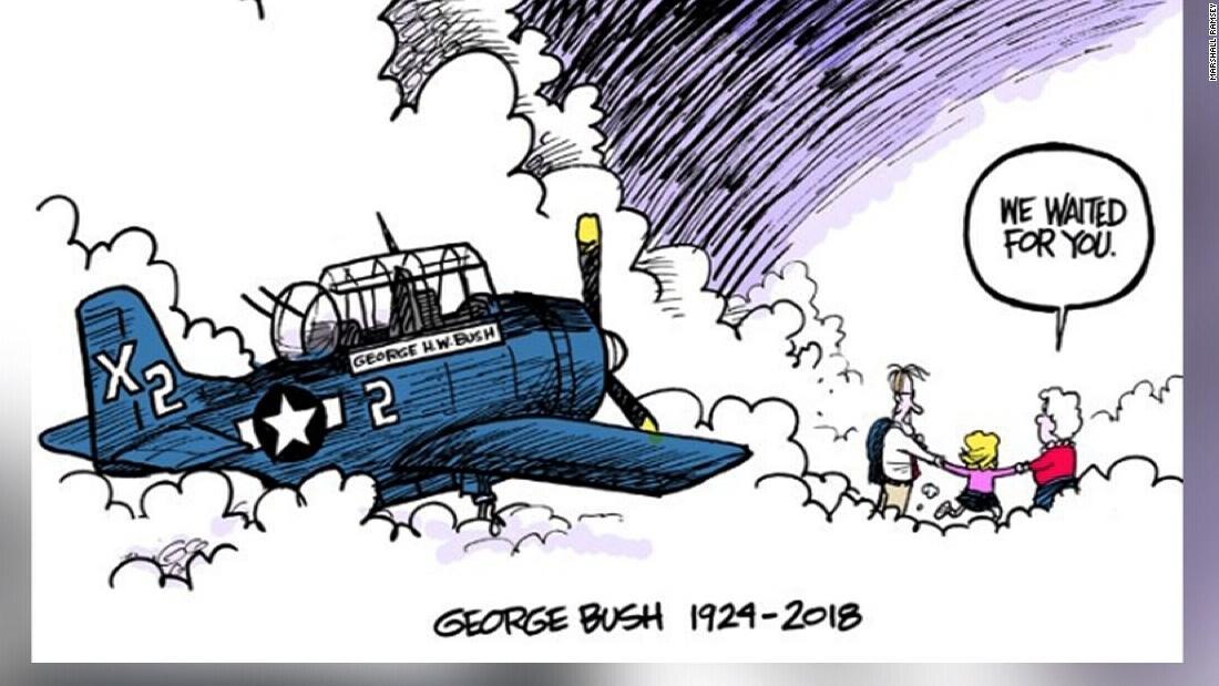 President Trump Arrives For Bush Funeral Cnn Video