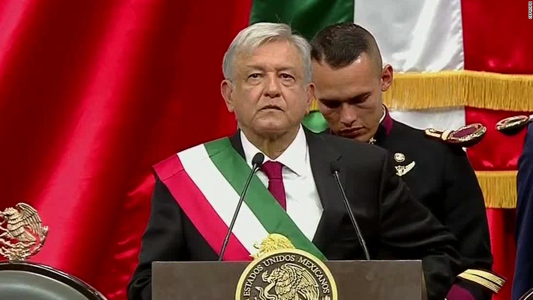Mexico swears in new leftist president