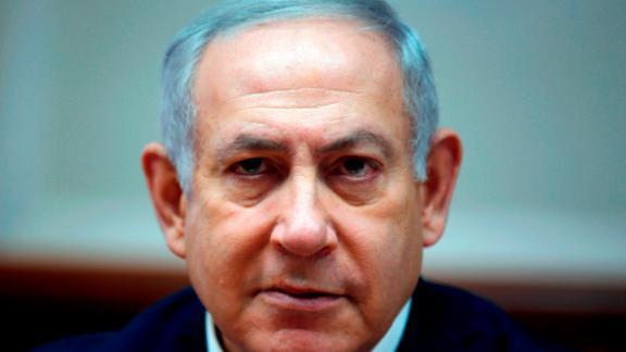 Israeli Prime Minister Benjamin Netanyahu is seen last week at the weekly cabinet meeting in Jerusalem.