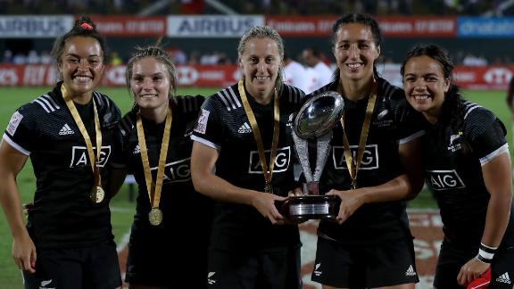 A 26-14 victory over Canada in the women's final meant New Zealand did the double in Dubai.