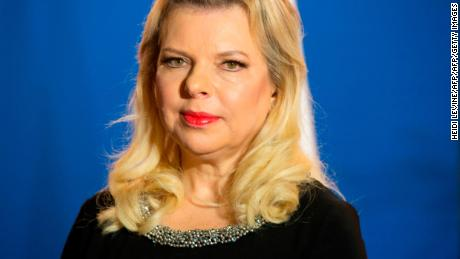 Sara Netanyahu, wife of Prime Minister Benjamin Netanyahu (unseen), is seen before she and her husband receive the Chadian President for a dinner at the PM's residence in Jerusalem on November 25, 2018. - Chadian leader Idriss Deby Itno on November 25 became the first president of his country to visit Israel and pledged a new era of relations when meeting Prime Minister Benjamin Netanyahu decades after ties were severed. (Photo by Heidi Levine / POOL / AFP)        (Photo credit should read HEIDI LEVINE/AFP/Getty Images)