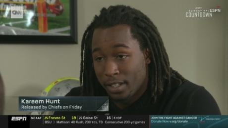 Kareem Hunt apologizes in ESPN interview