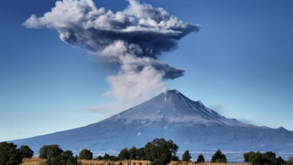 Popocatepetl volcano is situated near Mexico City.