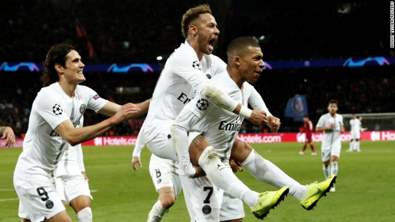 PSG's deadly attacking trio of Neymar (center), Kylian Mbappe (right) and Edinson Cavani.