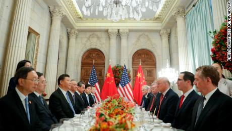 Trump and Xi during their bilateral meeting at the G20 Summit on December 1 in Buenos Aires, Argentina.