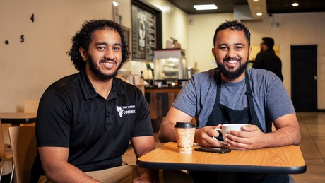 Zak Sayid, left, with his brother and The Horn Coffee co-owner, Ahmed Sayid