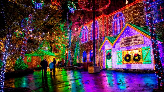 Silver Dollar City (Branson, Missouri): An Old Time Christmas in Branson, Missouri, glows and twinkles with more than 6.5 million lights and a 5-story special effects tree.