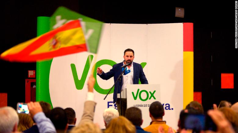 Santiago Abascal, leader of Spain's far-right party VOX