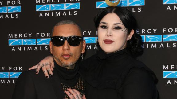 Author/musician Leafar Seyer and wife, TV personality Kat Von D (seen here pregnant in September 2018) introduced their son, Leafar Von D Reyes, in December 2018. It