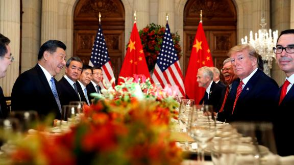 FILE - In this Dec. 1, 2018, file photo, U.S. President Donald Trump, second right, and China