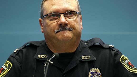 Nov 4, 2015; Springfield, MO, USA; Springfield police department chief Paul Williams speaks at a press conference on November 4, 2015.