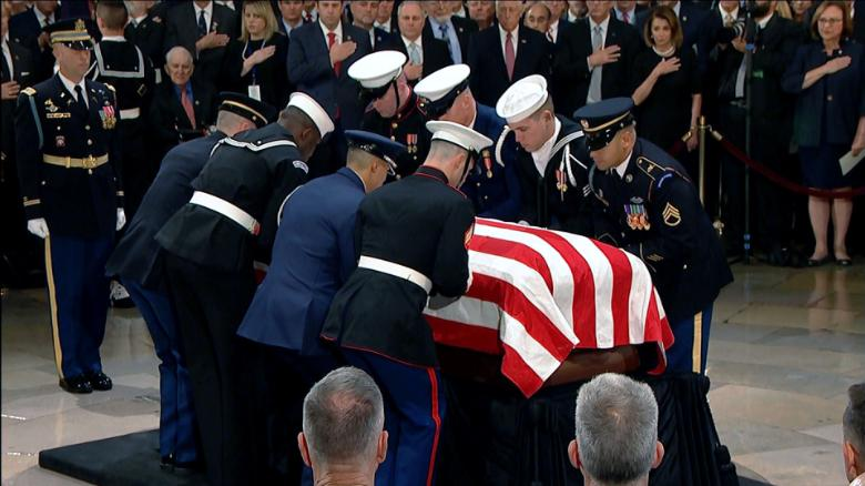 Image result for Capitol Hill ceremony to honor Bush offers bipartisan moment
