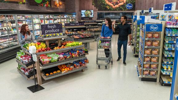 """Kroger will open mini """"Kroger Express"""" stores inside 13 Walgreens with meat, produce, and frozen foods."""