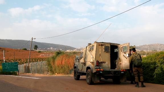 Israeli soldiers near the border with Lebanon earlier in December.