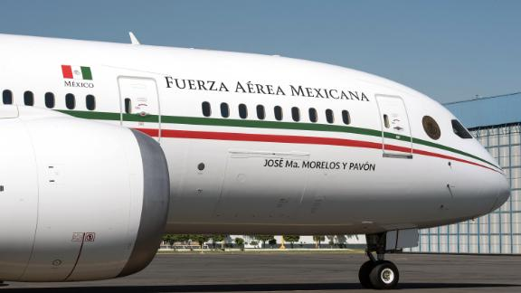 View of Mexico's presidential airplane a Boeing 787-8 with a cost of 125.4 million dollars- after its last fly at the  Benito Juarez International Airport, in Mexico City on December 3, 2018. - Anti-establishment leftist new President Andres Manuel Lopez Obrador announced that he will sell the presidential plane to a private company in the United States. (Photo by ALEJANDRO MELENDEZ / AFP)        (Photo credit should read ALEJANDRO MELENDEZ/AFP/Getty Images)