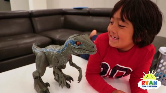 title: Pet Dinosaur Jurassic World Alpha Training Blue visits Ryan!!!! duration: 00:10:02 site: Youtube author: null published: Fri Nov 30 2018 08:00:05 GMT-0500 (Eastern Standard Time) intervention: yes description: Jurassic World Alpha Training Blue visits Ryan!!! Dinosaur Remote control robot toys, train your very ow realistic, interactive dinosaur wit Alpha Training Blue, based on Velociraptor Blue from Jurassic World! One of the hottest Christmas toys!!!
