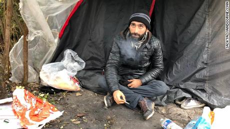 Ahmed, an Iranian migrant in France who plans to cross the English Channel