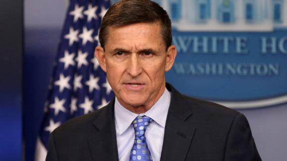 FILE PHOTO: U.S. National Security Adviser General Michael Flynn delivers a statement daily briefing at the White House in Washington, U.S., February 1, 2017. REUTERS/Carlos Barria/File Photo