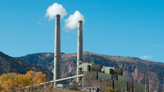 HUNTINGTON, UT - OCTOBER  9: Emissions rise from smoke stacks at Pacificorp